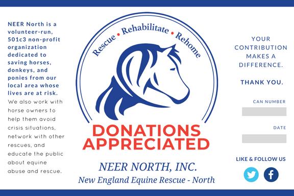 Donation Can Label for Non-Profit Equine Rescue