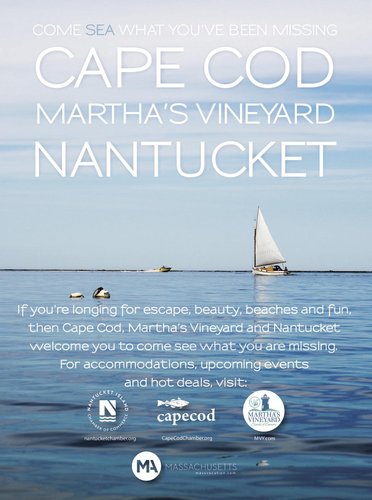 Nantucket Chamber of Commerce Magazine Advertisement  |  Nantucket, MA