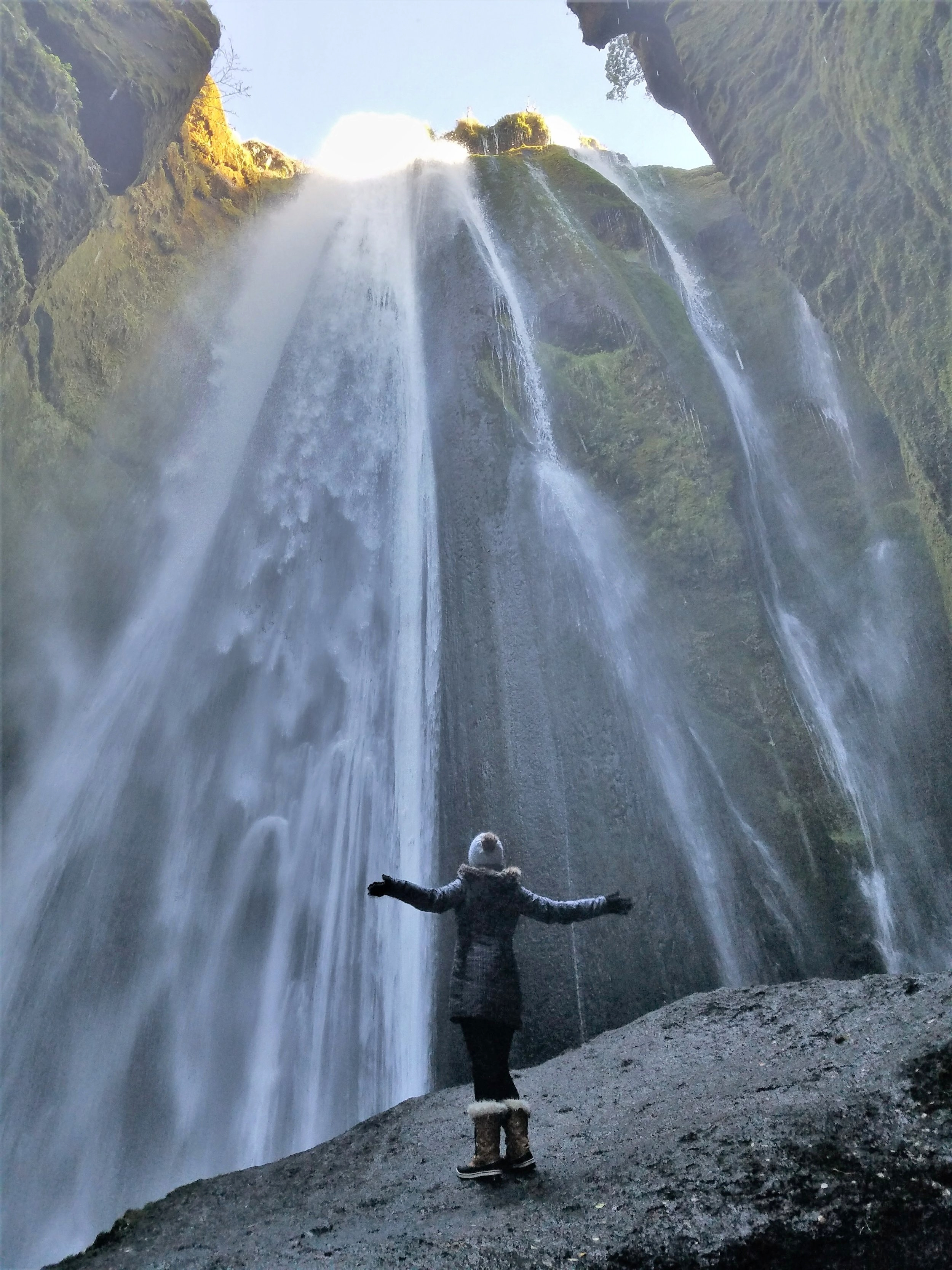 The secret Gljufrabui waterfall is one of the prettiest Iceland waterfalls. It is located near the popular Seljalandsfoss but hidden by cliffs. #travel #iceland #icelandtravel #wanderlust #europe #waterfalls #naturepics #icelandwaterfalls #waterfallsaroundtheworld #traveldestinations #traveltips