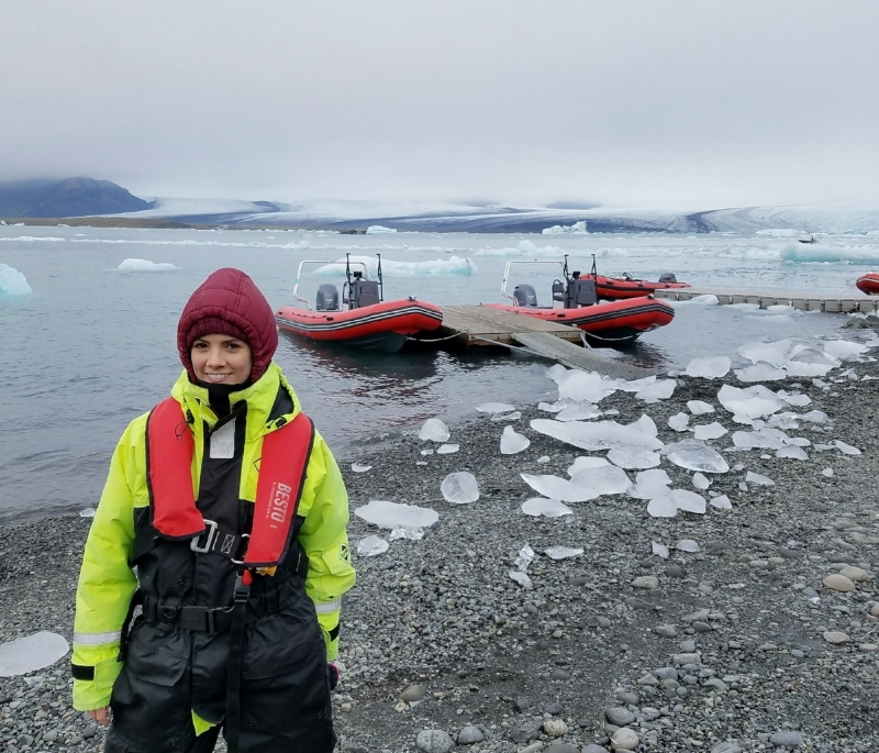 Take a boat ride on the Jokulsarlon glacier lagoon in Iceland to see icebergs and glaciers up close.