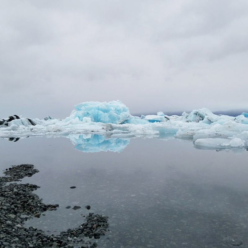 Visit the Jokulsarlon Glacier Lagoon in Iceland to see glaciers and icebergs up close
