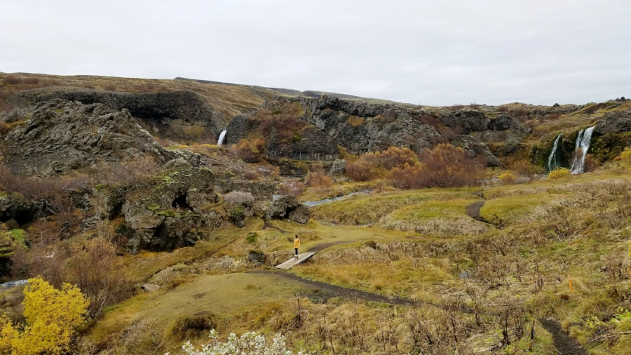 Iceland day trip to Gjain valley waterfall