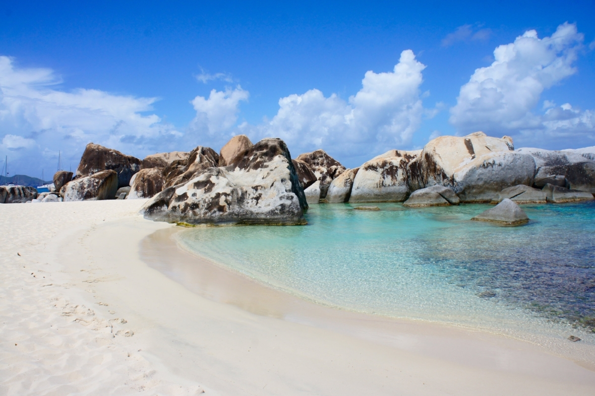 The beaches of Virgin Gorda are quieter in summer than in winter, when tourists flock here to escape the cold. Summer is a great time to visit the British Virgin Islands.