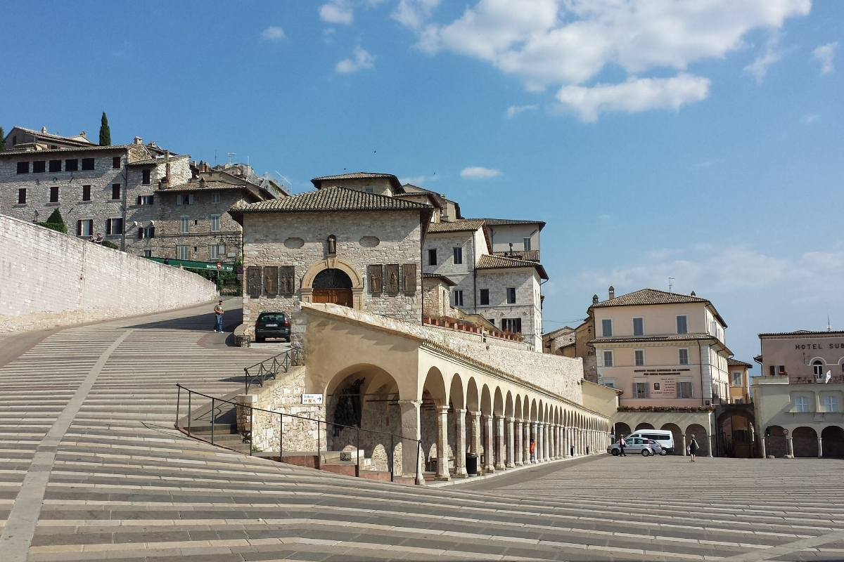 Assisi, Italy, is much less crowded in summer than nearby big cities like Rome and Florence but still full of historic charm.