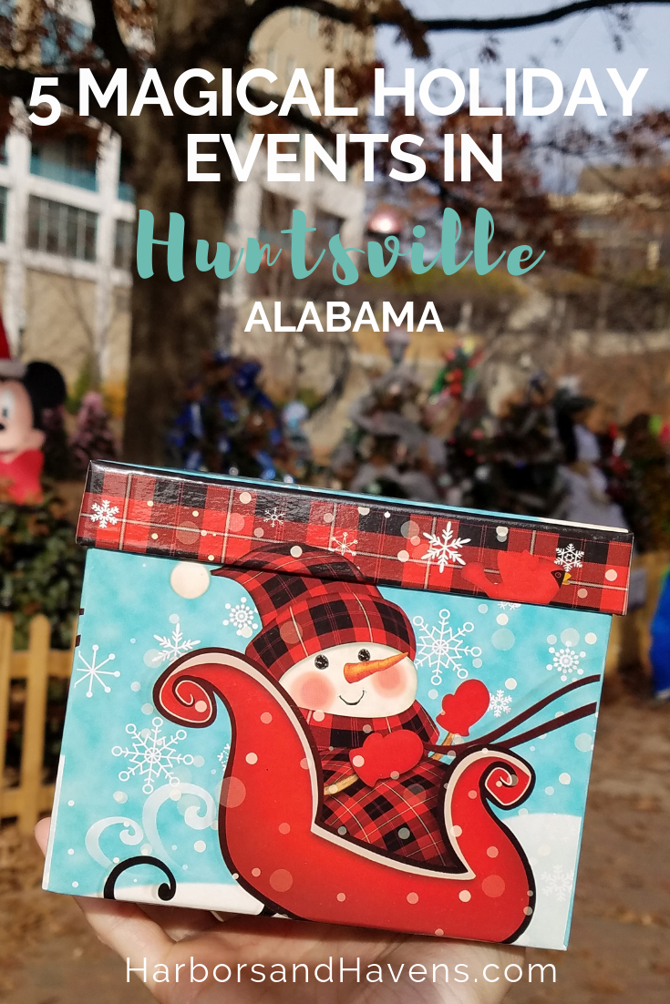 Celebrate the holidays in Huntsville, Alabama, at these festive events and magical scenes throughout the city. #Holidayevents #Holidays #Christmas #Huntsville #HolidayTravel