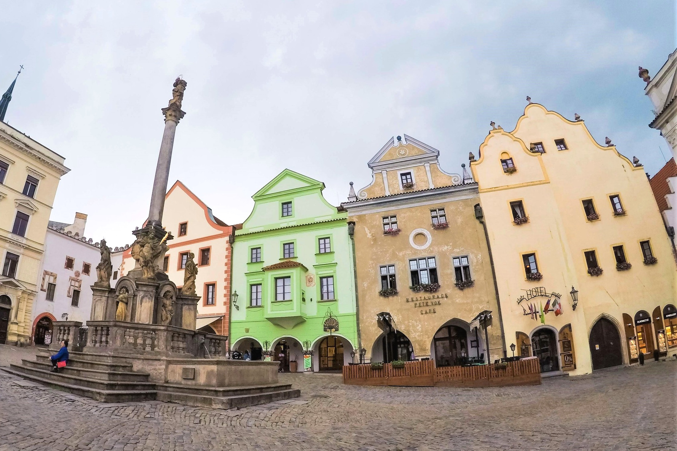 Cesky Krumlov's historic square is full of brightly painted buildings and stone streets. These Prague to Cesky Krumlov buses and tours include time to walk around the magical Bohemian city.