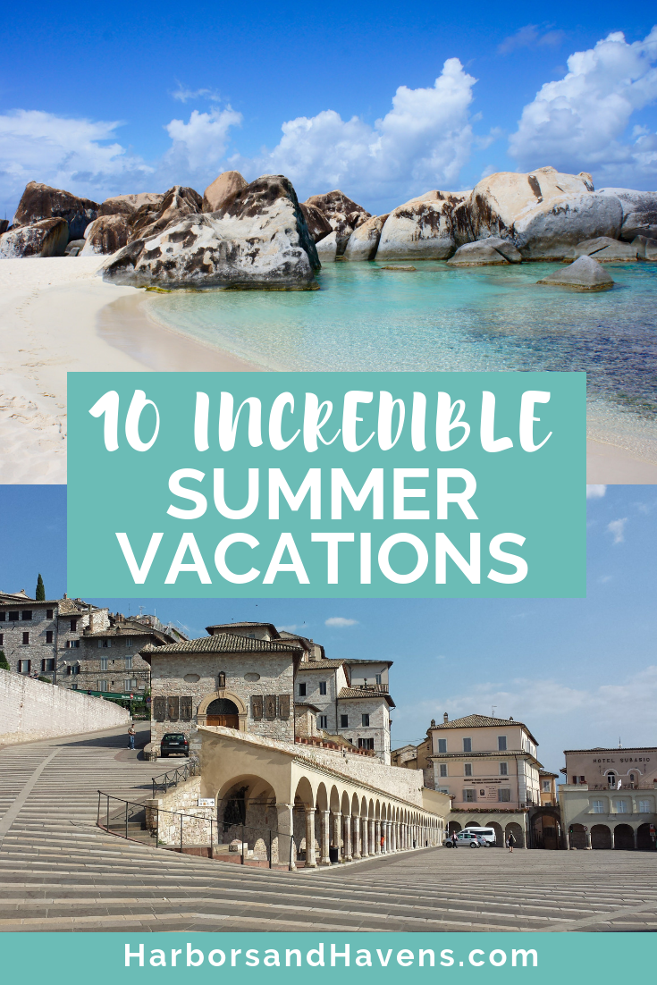 From islands and beaches to historic cities, these 10 summer vacation destinations should be on your bucket list. #Summervacationideas #Summer #Vacation #Wanderlust #TravelTips #Beach #Island #Europe