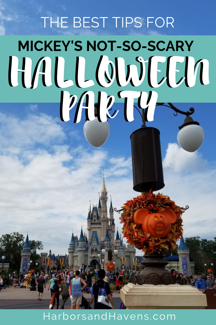 Mickey's Not-So-Scary Halloween Party at the Magic Kingdom packs in candy, parades, and costumed characters. This guide will help you make the most of your time at the annual Halloween event at Disney World. #Halloweenevents #DisneyWorld #MagicKingdom #DisneyHalloween #Halloweenevent #Falltravel #Halloweentravel