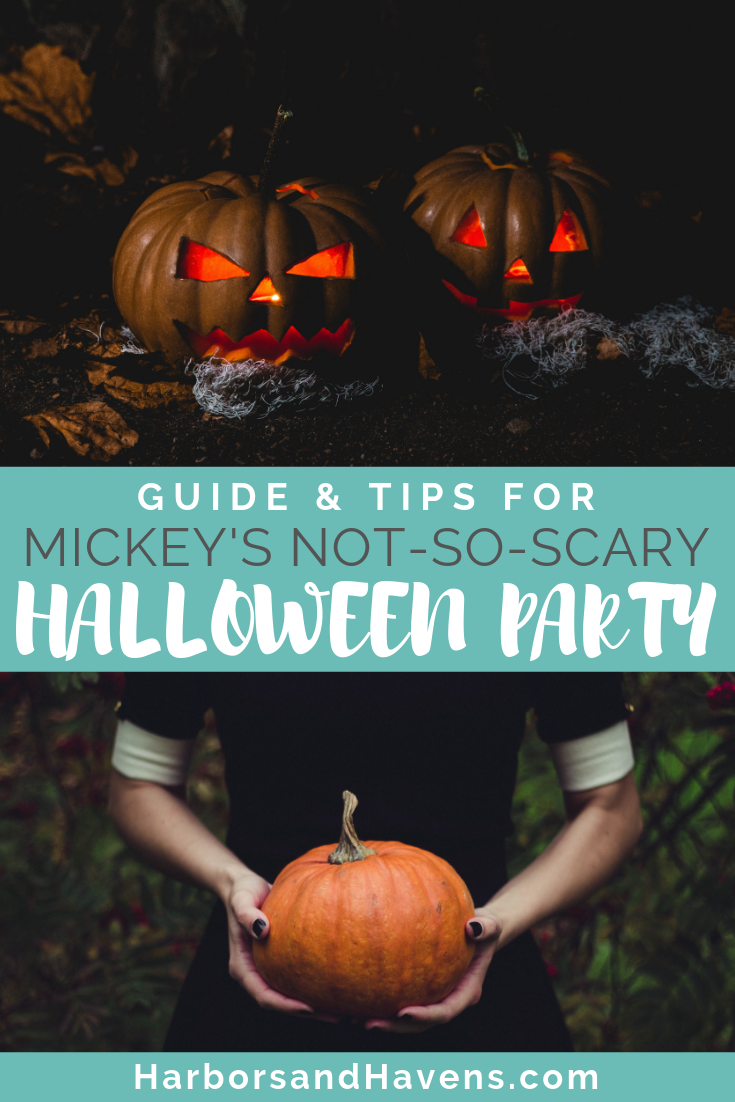 This guide to Mickey's Not-So-Scary Halloween Party at Disney's Magic Kingdom will help you make the most of your time at the annual event. Pig out on candy, find the best parade-viewing spot, and preview all the costumed characters at Disney World's fall fest. #DisneyHalloween #Disneyevents #Halloweenevent #Falltravel