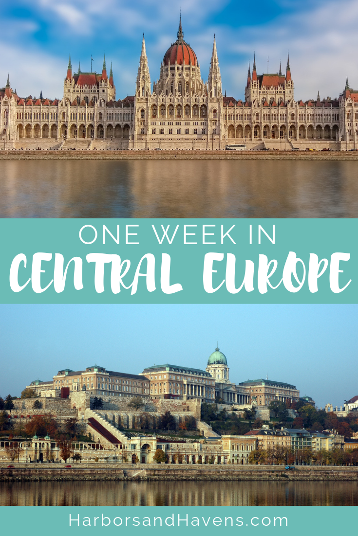Central Europe is full of heritage and culture, and this one-week itinerary will help you explore the grand capital cities of Vienna, Prague and Budapest. | Travel guide | Central Europe | Europe Travel #PragueTravel #Prague #Praguethingstodo #Vienna #ViennaTravel #Budapest #Budapestthingstodo #Bratislava #Bratislavathingstodo #CeskyKrumlov