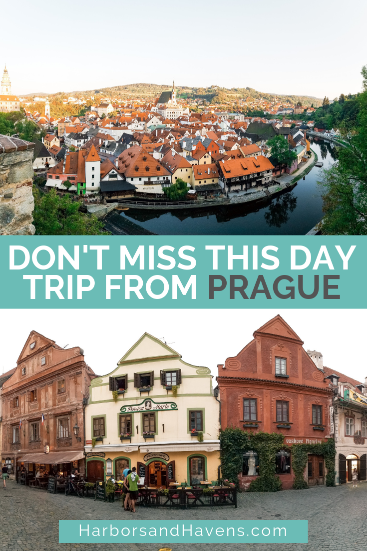 Thinking of a Cesky Krumlov day trip from Prague? Find out everything you need to know before you go, including all the different transit and tour options.  #CeskyKrumlov #ceskykrumlovthingstodo #ceskykrumlovtravel #ceskykrumlovphotography #ceskykrumlovbohemian #CeskyKrumlovstreet #CeskyKrumlovdaytrip #europetravel #europetraveldestinations #ceskykrumlovtour