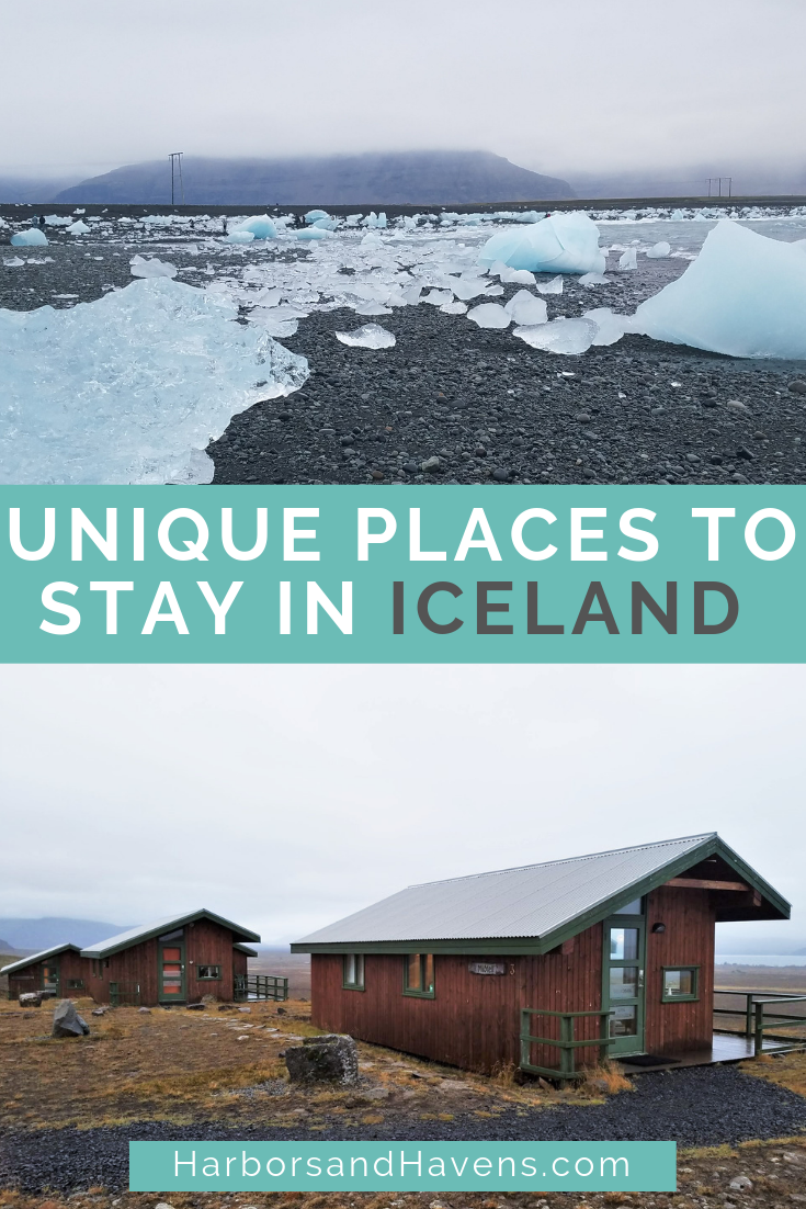 These unique Iceland hotels have incredible views of lakes, glaciers and the Northern Lights. Find unique places to stay in Iceland, including guest houses, tiny cabins and hostels. Iceland hotels | Iceland where to stay | Iceland what to do | Iceland bucket list | Iceland road trip | Iceland accommodations | Iceland travel | #Iceland #icelandvacation #icelandhotels