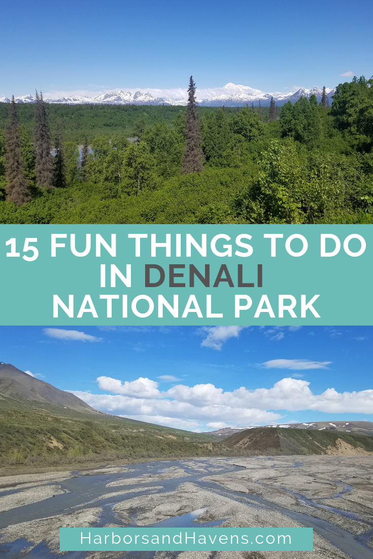 Things to do in Denali National Park and Preserve range from epic hikes on mountain passes to wildlife watching and casual strolls around reflective lakes. These tips for Denali will help get you started. USA | Denali things to do | What to see in Denali National Park | What to do in Denali | Where to go in Denali National Park | Denali tips | Denali National Park hiking | Denali wildlife #Alaska #DenaliNP #Denali