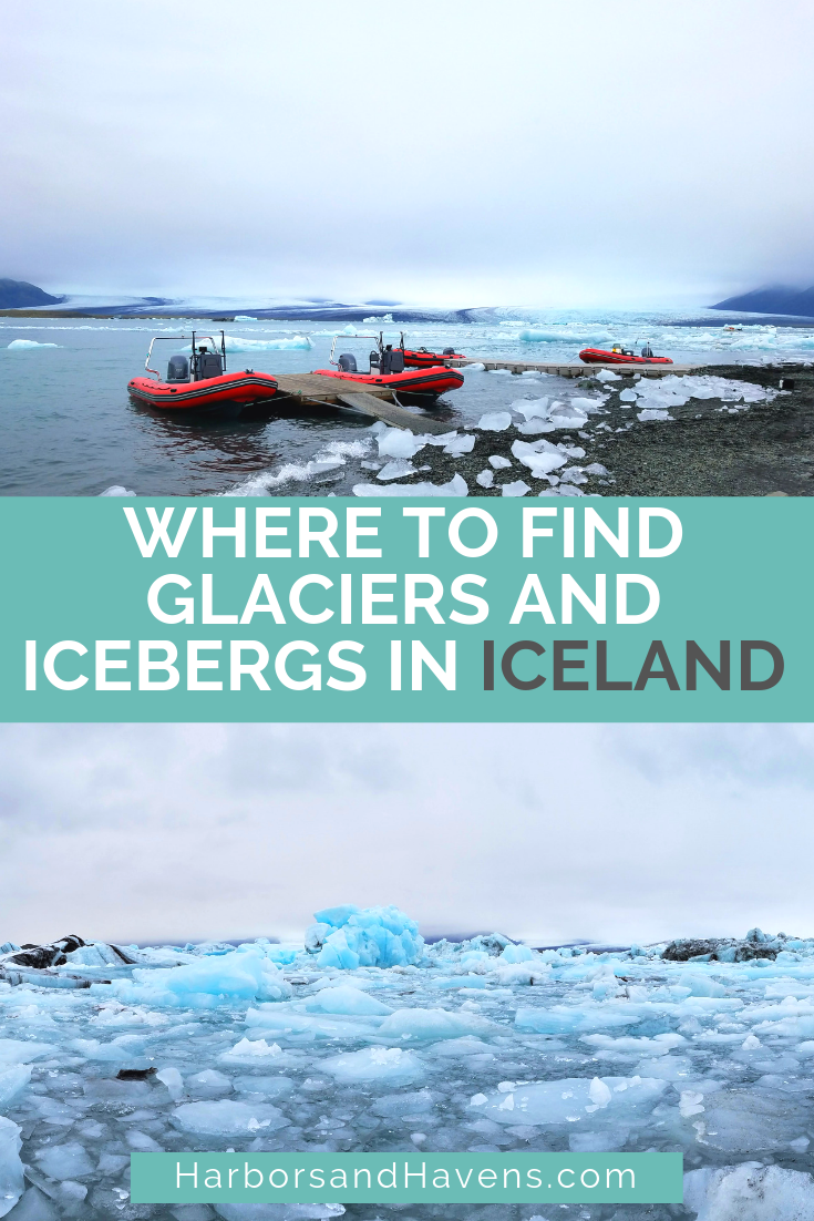 Diamond Beach and Jokulsarlon Glacier Lagoon should be on your Iceland bucket list. You can see the lake full of icebergs on a boat tour and visit the neighboring black sand beach. #Iceland #Jokulsarlon | Jokulsarlon glacier lagoon tour | Jokulsarlon Iceland | Jokulsarlon glacier boat ride | Jokulsarlon Iceland travel