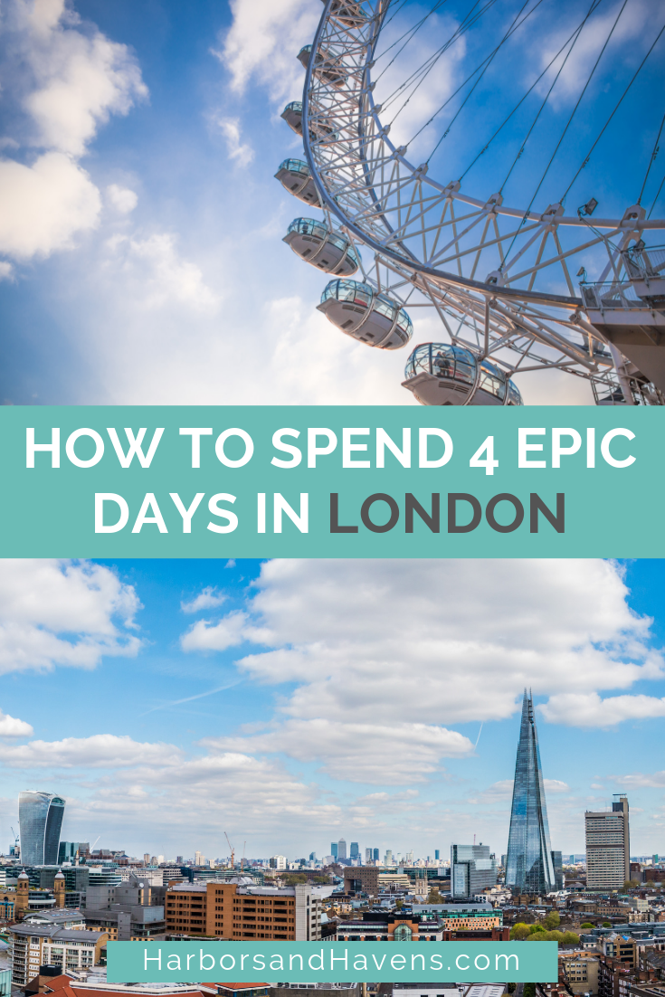 This London itinerary for 4 days is full of London bucket list sights and attractions, perfect for your first time in the city. | London itinerary map | London travel tips | London travel places | London travel guide | London travel pictures #Londonvacation #London