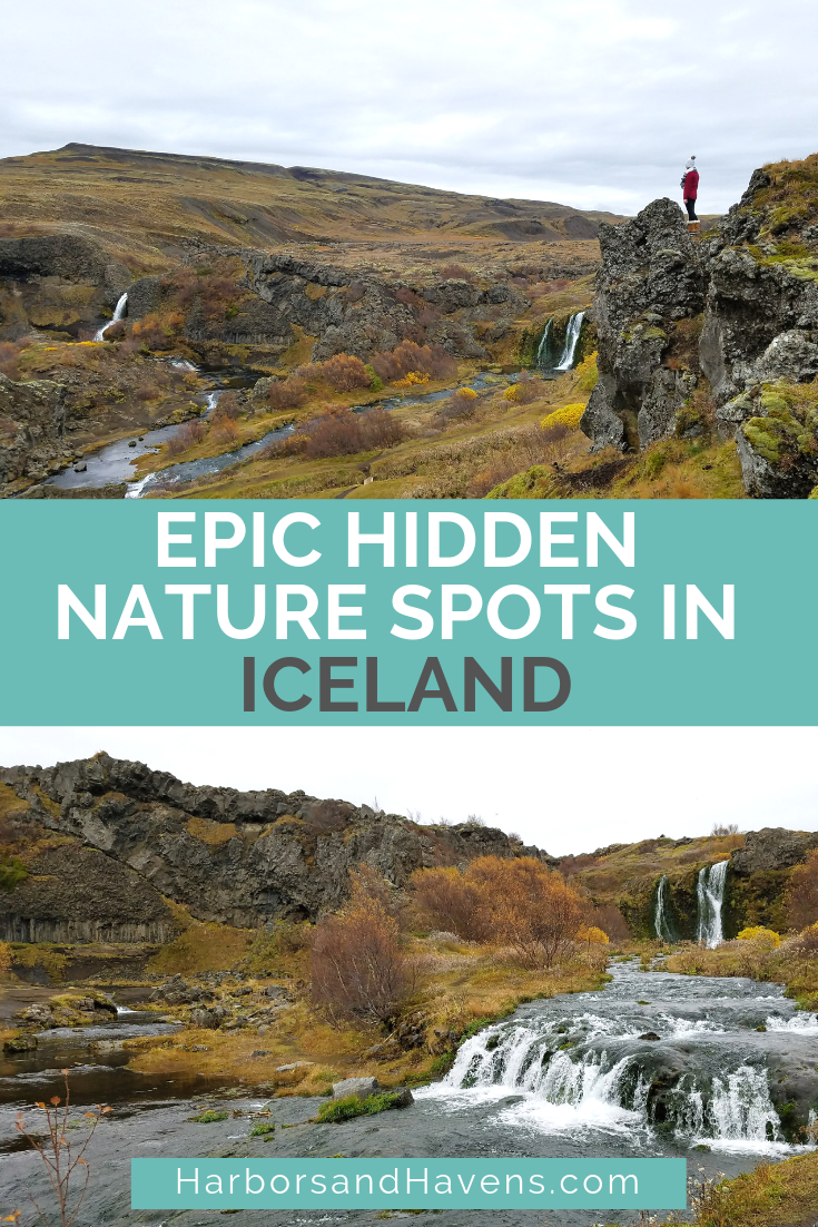 These Iceland hidden gems are stunning and low on crowds. Discover waterfalls and gorgeous landscapes at Haifoss and Gjain. Iceland bucket list | Gjain Iceland | Haifoss Iceland |  Iceland things to do | Iceland travel | Iceland road trip #Iceland #Icelandtravel   #Icelandpictures #Icelandscenery