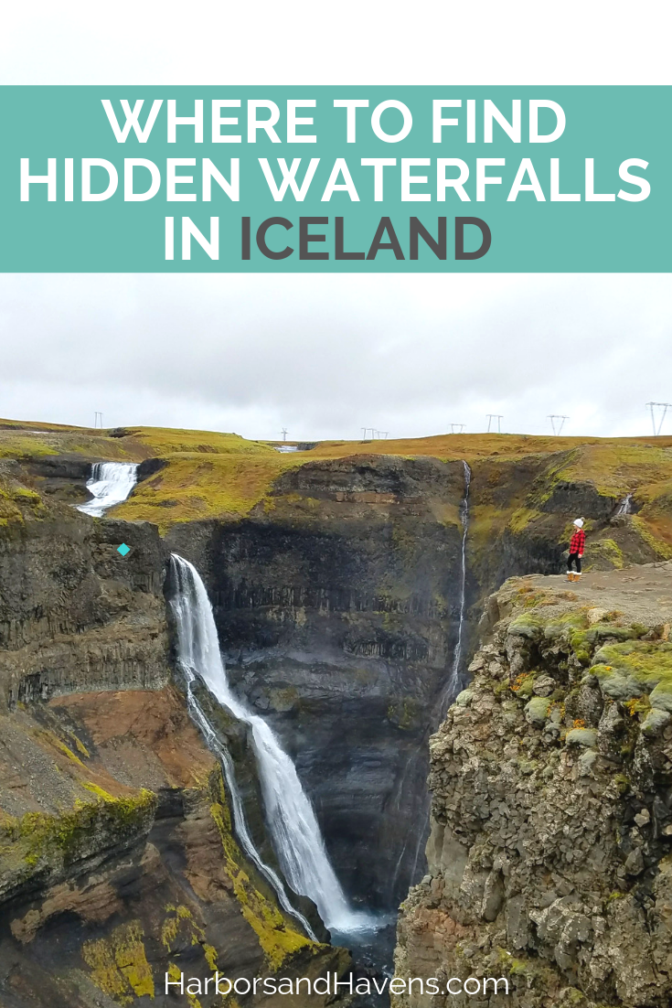 The third-tallest waterfall in Iceland is one of many hidden gems in the country. This Iceland guide shows how to find this stunning landscape and other secret waterfalls. #Iceland #Icelandtravel | haifoss Iceland |  Iceland things to do | Iceland itinerary | Iceland photos | Iceland waterfalls | Gjain Iceland