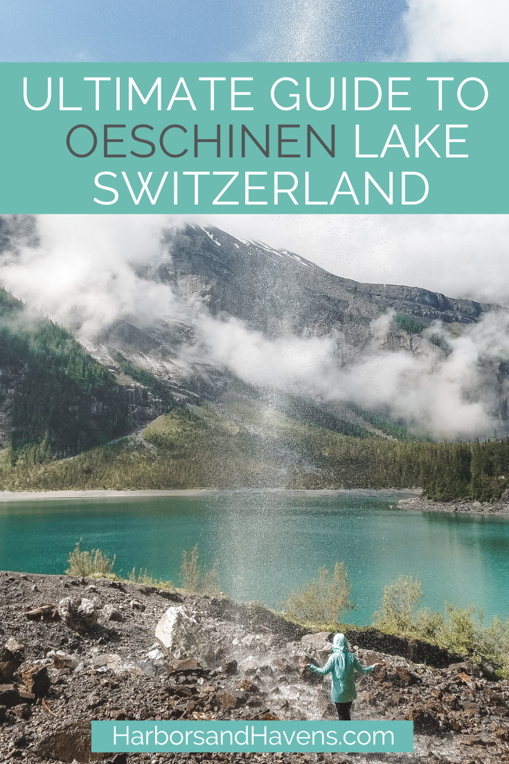 See the stunning emerald waters of Oeschinen Lake Switzerland with this guide. The mountaintop Swiss lake in Kandersteg has rowboats, epic trails, lakeside restaurants and more. #Switzerland #Swissalps | Switzerland travel summer | Oeschinensee summer | Swiss lakes alps | Swiss lakes beautiful places | Switzerland travel amazing places | Switzerland travel alps