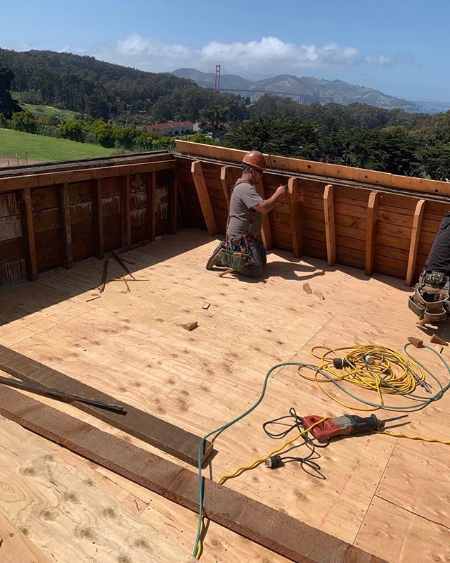 This is going to be a great roof deck soon. Stay tuned for a follow up photo. #roofdeck #sanfranciscoconstruction