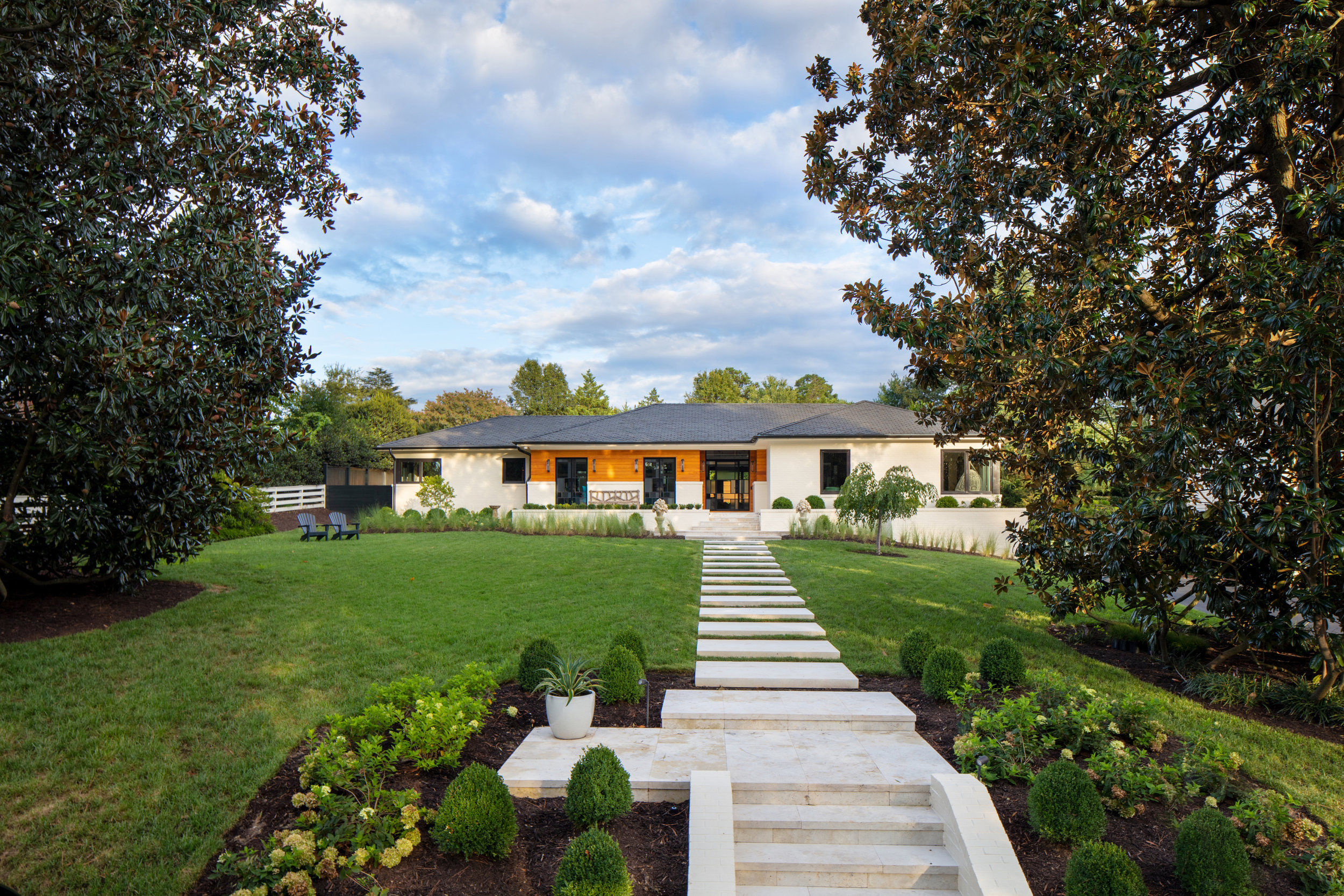 Marcia Fryer Landscape Designs | Renovated Brick Ranch | Multi Level Front Yard.jpg