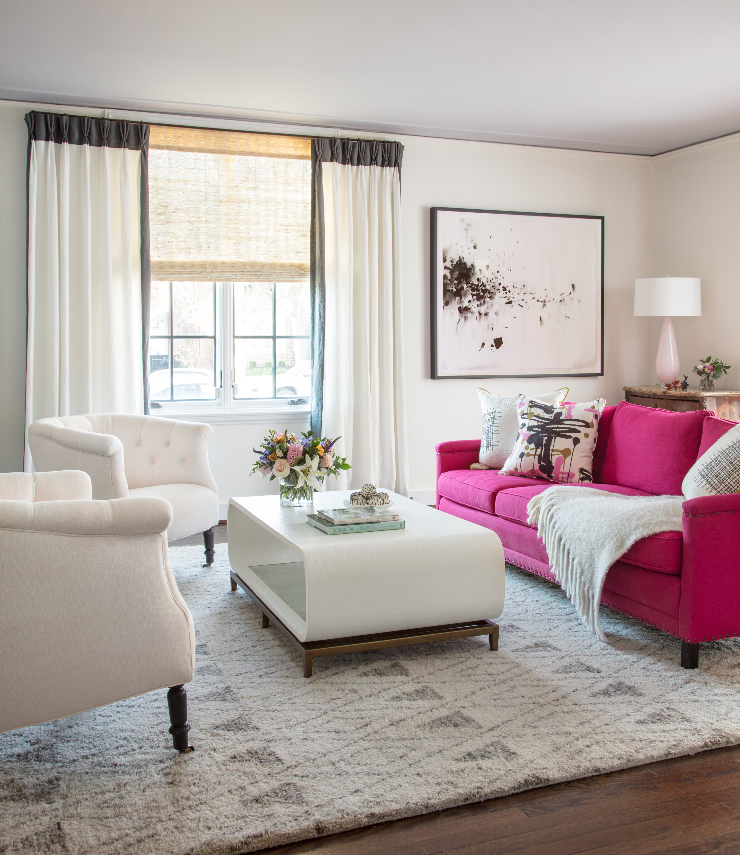 Marcia Fryer Landscape Designs | Fresh Interior Design | Pink Sofa.jpg