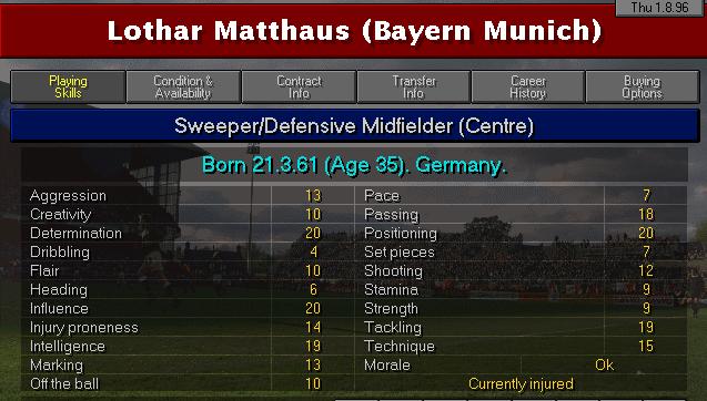 Lothar Matthaus CM2 Profile courtesy of    @cm9798