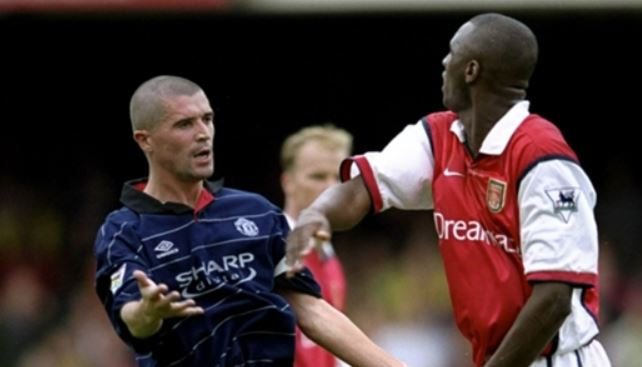 """"""" If it had come to a fight, Patrick could probably have killed me. """" Roy Keane on  Patrick Vieira ."""