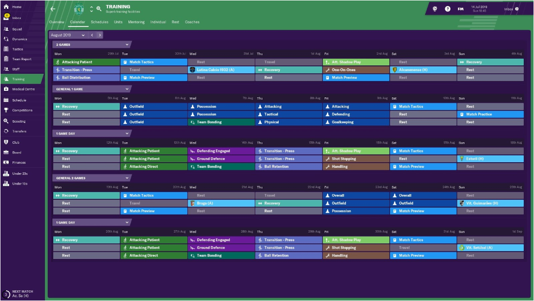 Football Manager 2019: My Training Philosophy — #WeStreamFM