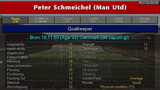 Peter Schmeichel CM9798