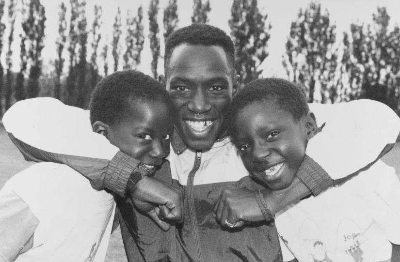 Ian with sons Bradley and Shaun (1990)