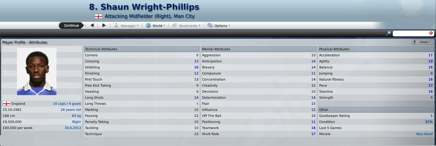 Shaun Wright-Phillips FM2009