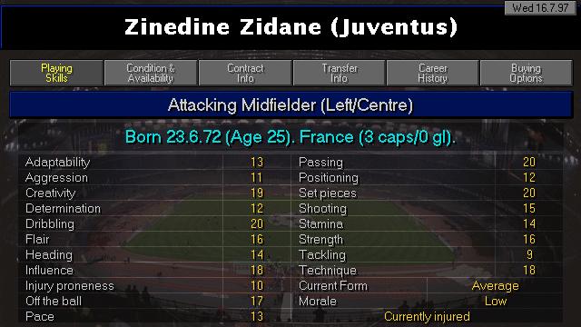 Zidane Profile CM9798
