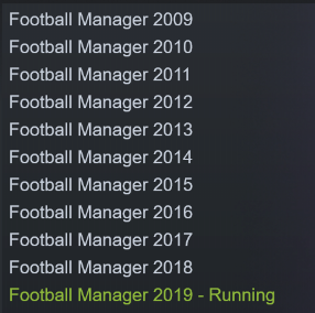 A decade of FM on Steam