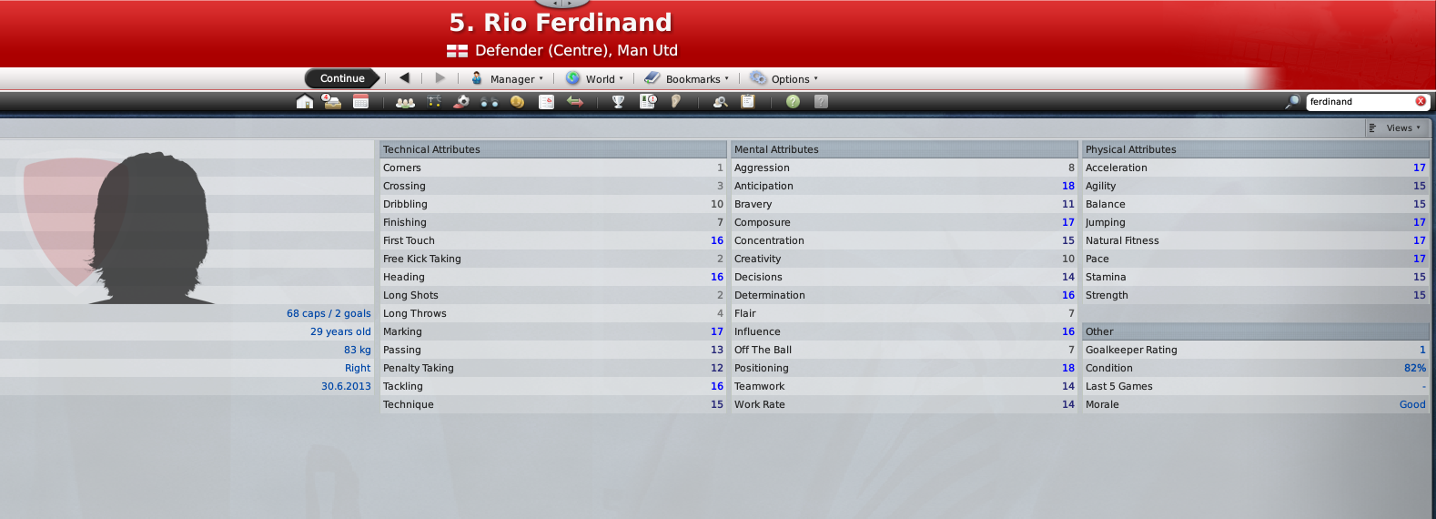 Ferdinand's FM09 Profile