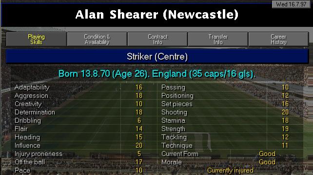 Shearer's CM9798 Profile
