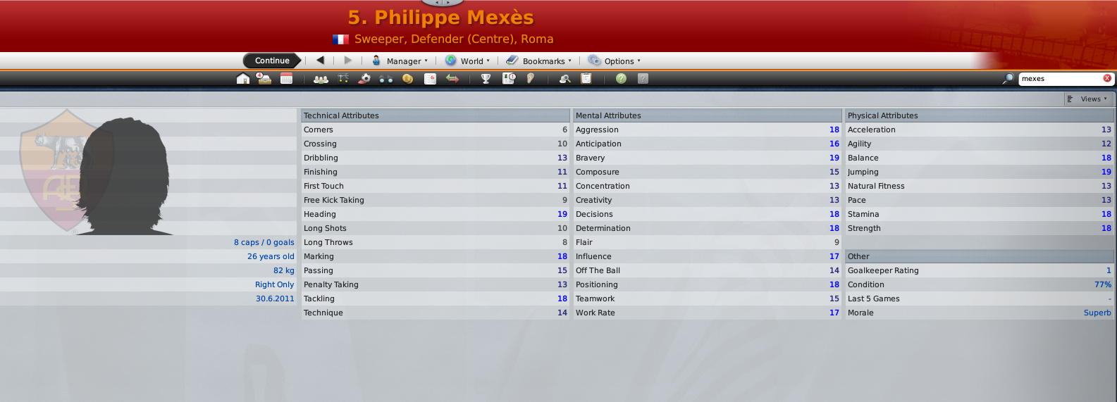 Mexes' FM09 Profile