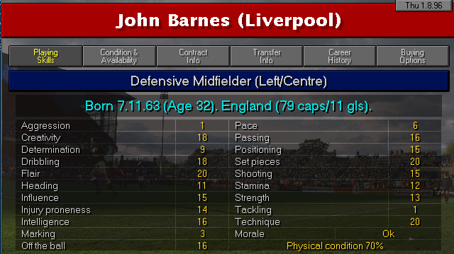 Barnes 10 years later