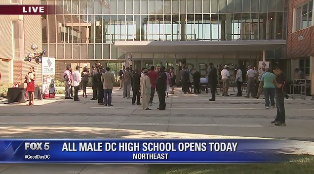 News coverage of the Ron Brown College Preparatory High School opening its doors 2016 ( source )