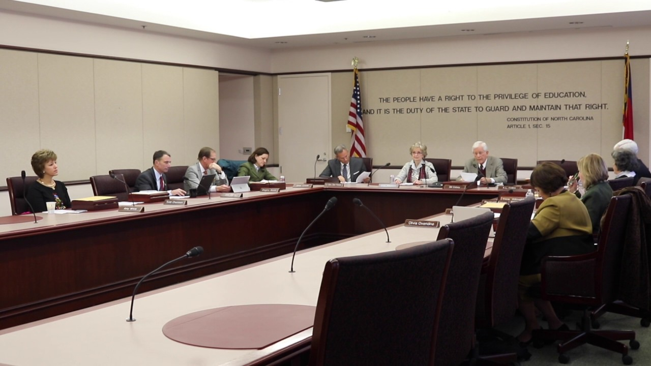 The state Board of Education convening in 2016 ( source )