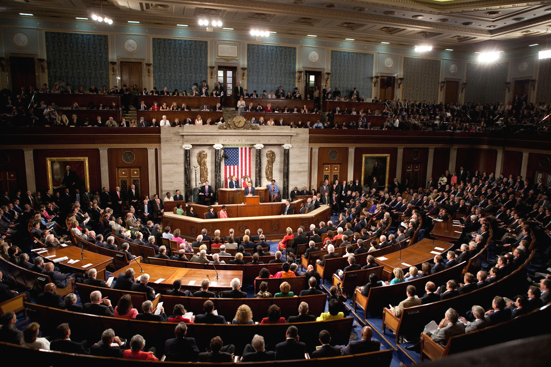 President Obama addressing a joint session of Congress in 2009 ( source )