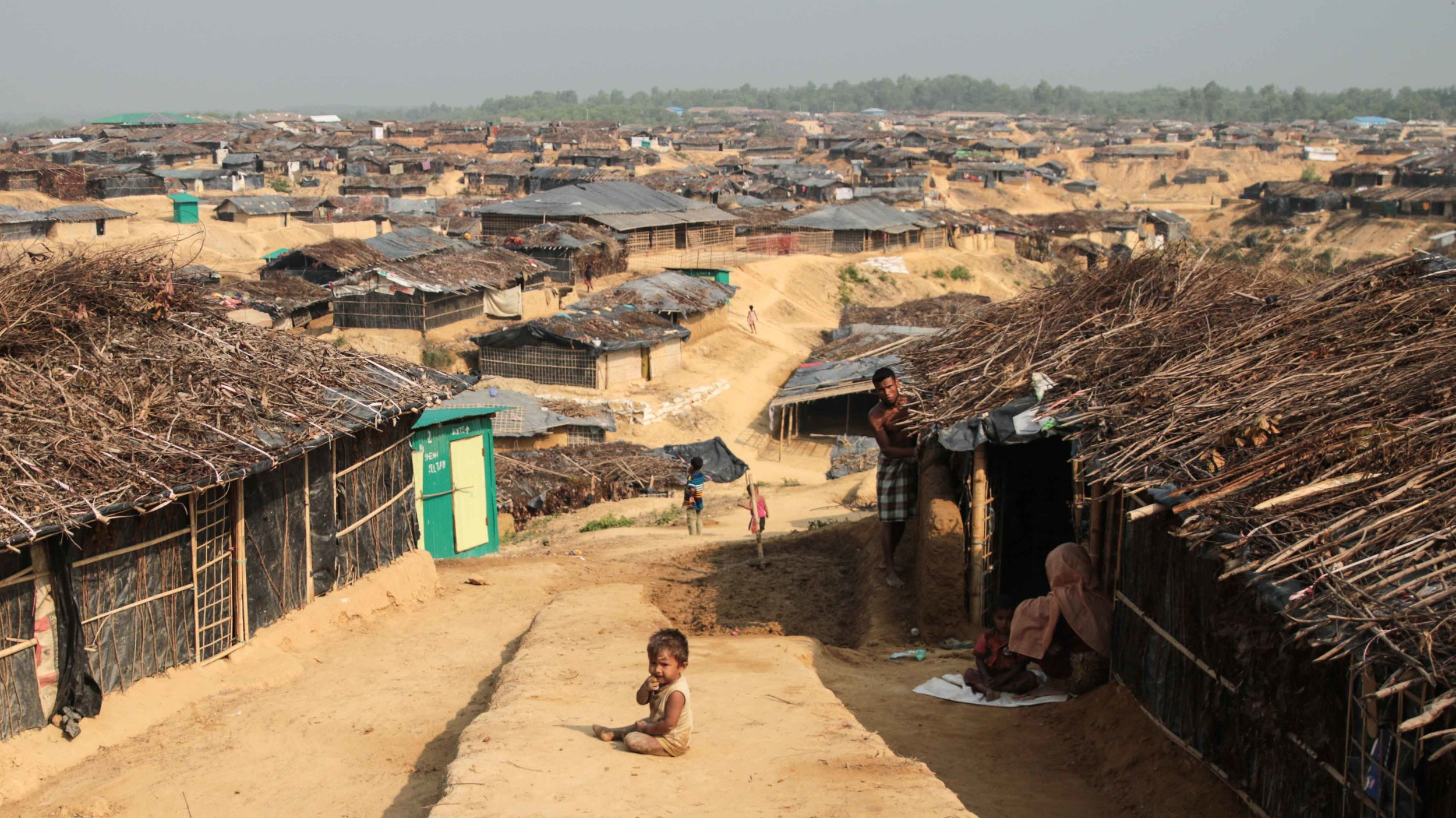 The Kutupalong refugee camp in Bangladesh, inhabited predominantly by Rohingya Muslims ( source )