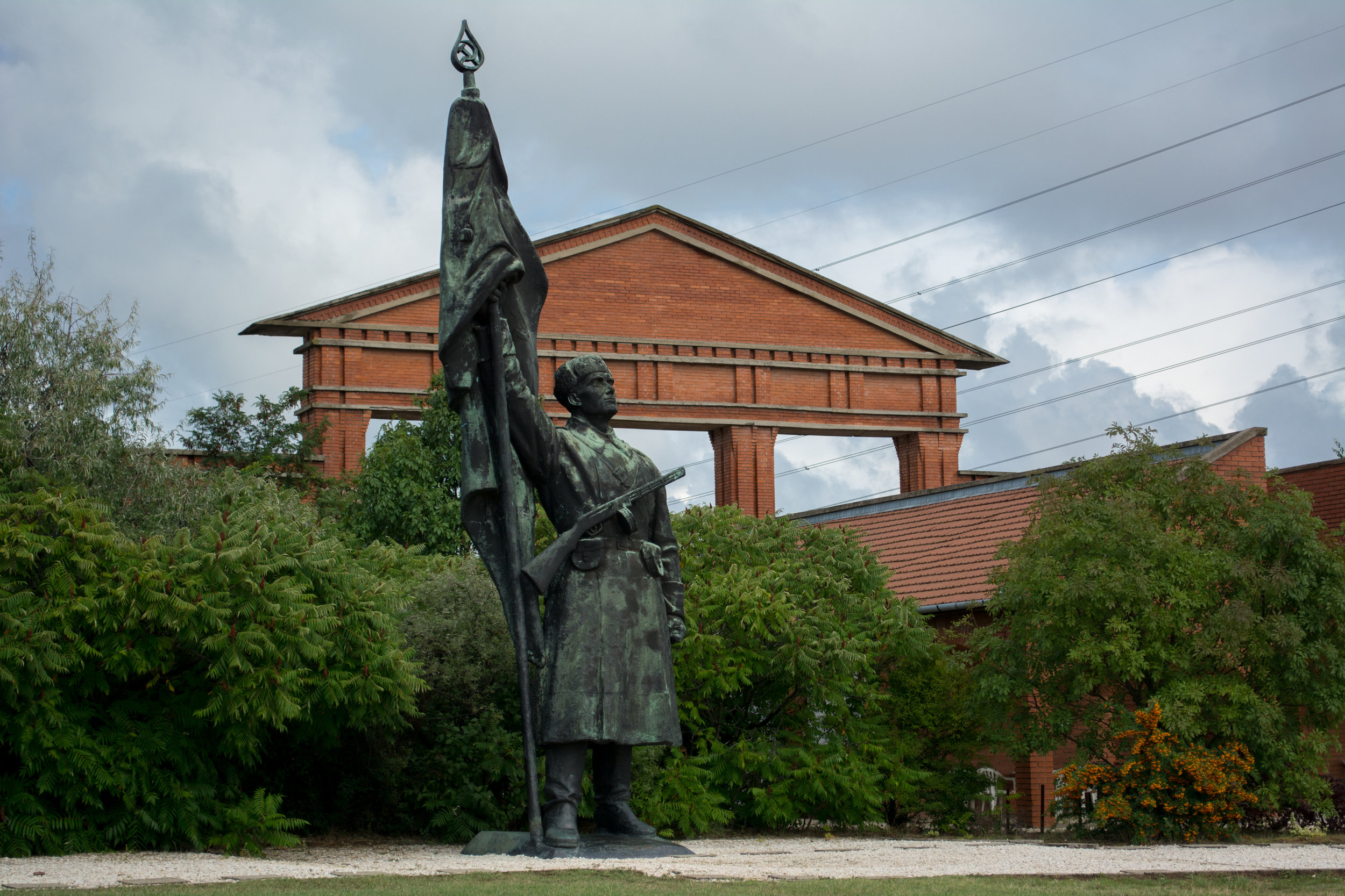 The Liberation Monument, which celebrated the Soviet victory over Hungary