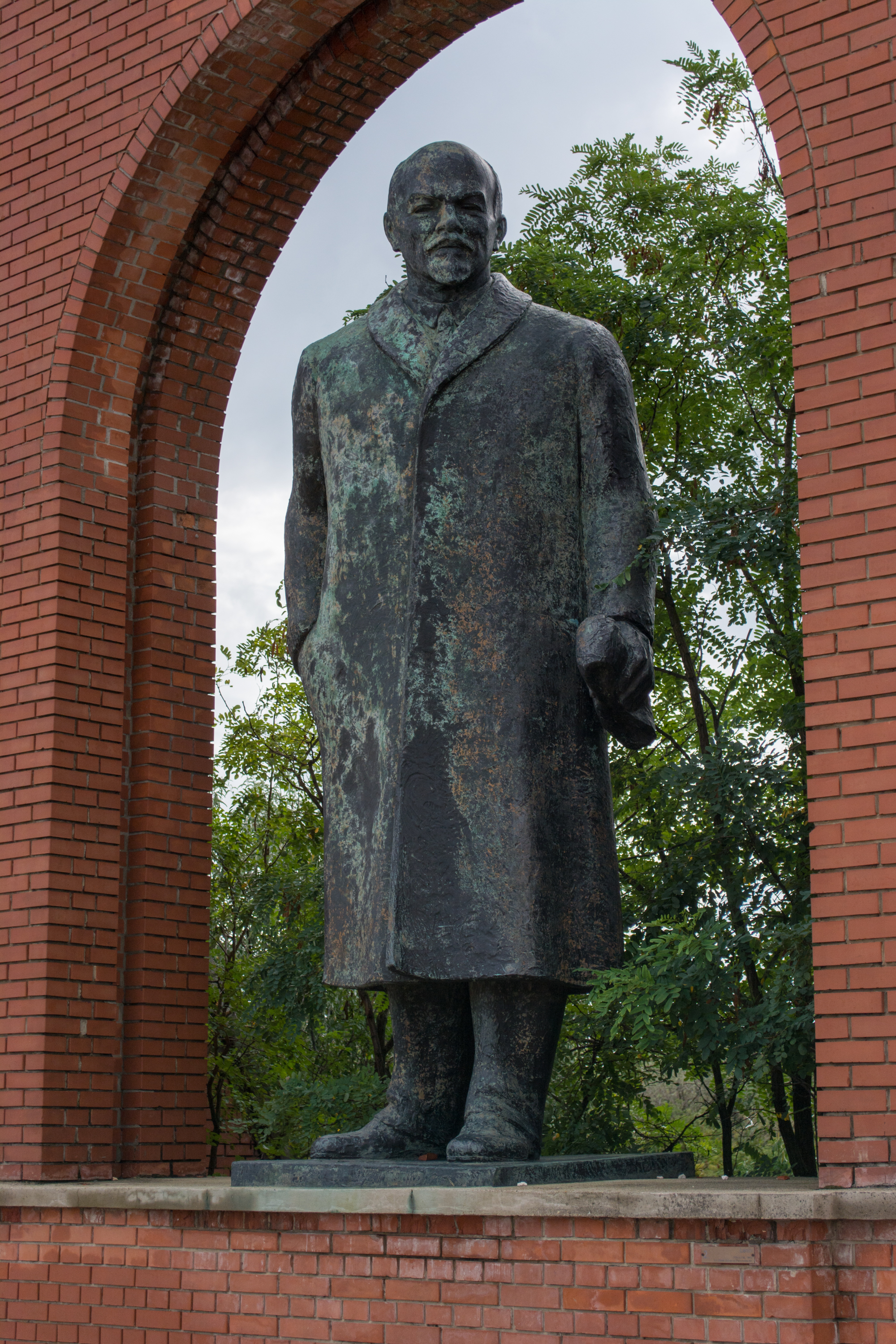 A statue of Vladimir Lenin, the first Premier of the Soviet Union