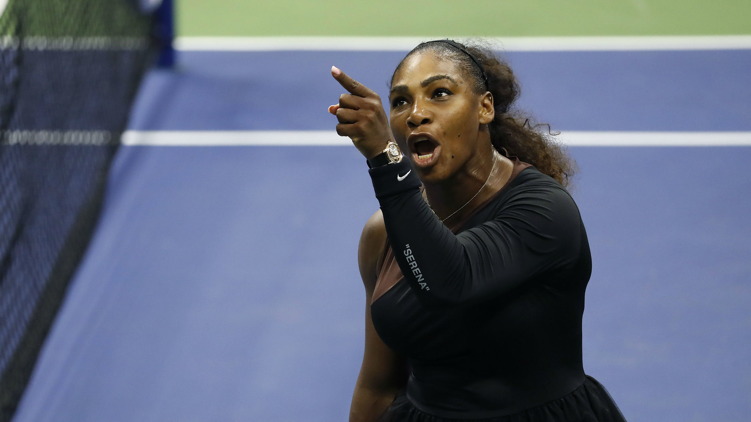 Serena Williams argues with umpire Carlos Ramos at the U.S. Open on September 8th ( source )