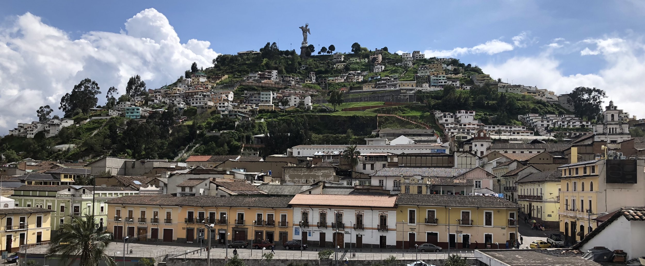 The El Panecillo hill overlooking Quito (Image: Valerie Lundeen)