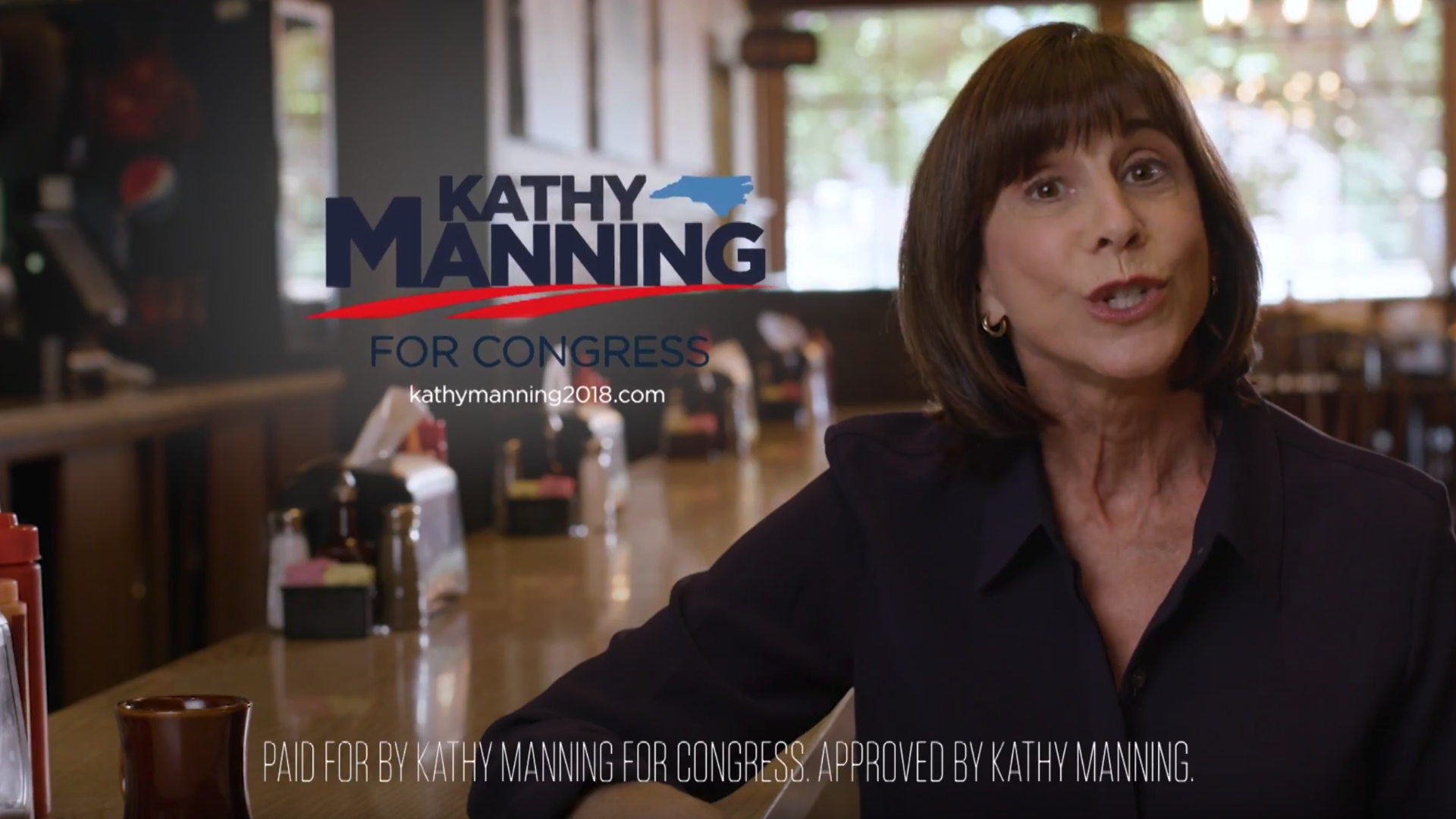 An ad from the Kathy Manning campaign released in August ( source )