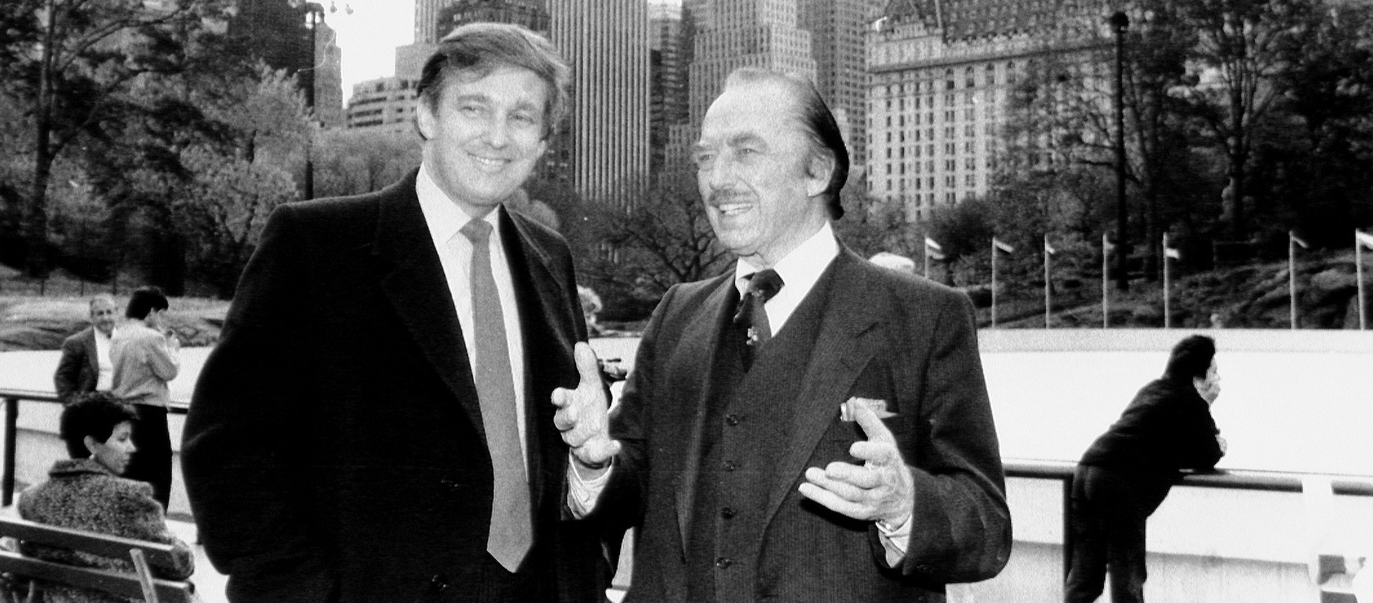 Donald Trump with his father, Fred, in New York City ( Image )