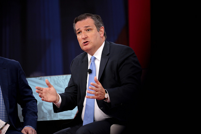 Ted Cruz speaking at the Conservative Political Action Committee Conference earlier this year ( source )