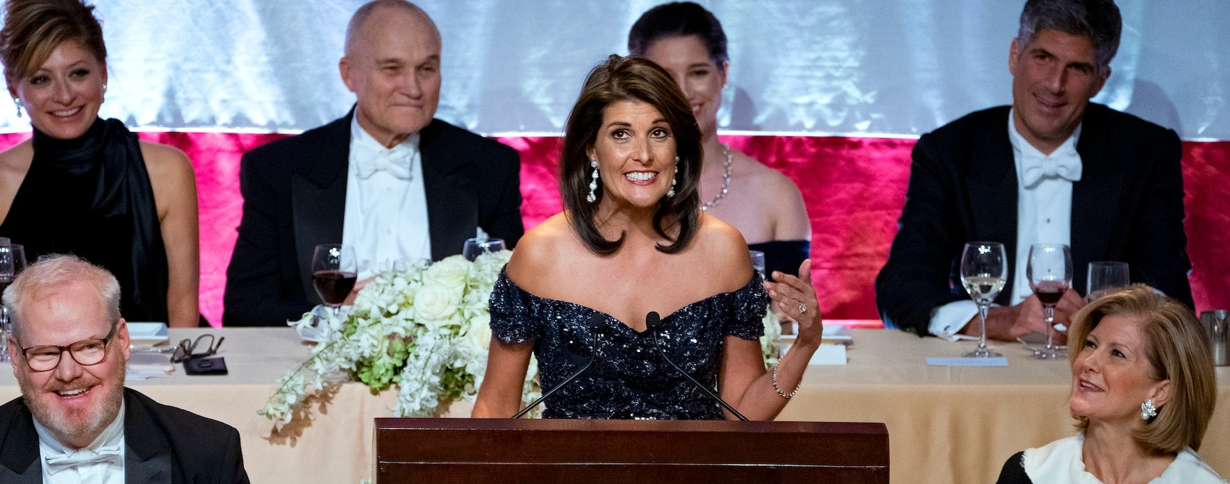 Outgoing Ambassador to the United Nations Nikki Haley speaking in New York City last week ( Image )