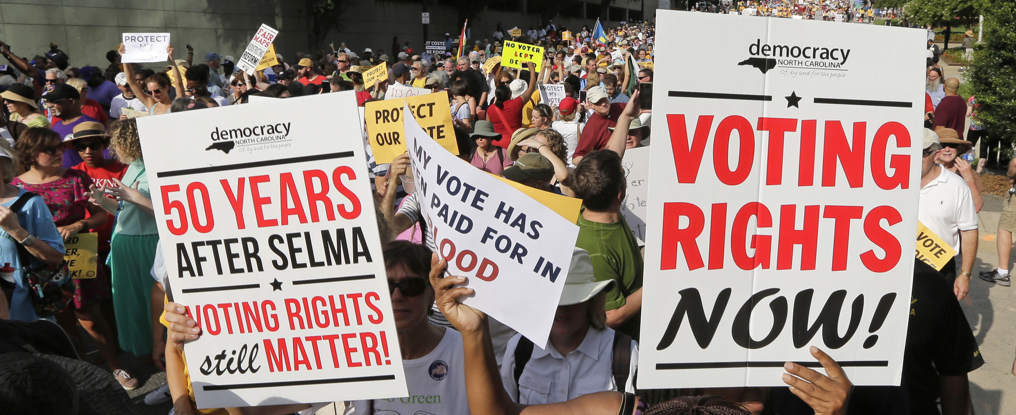 A demonstration supporting voting rights ( Image )